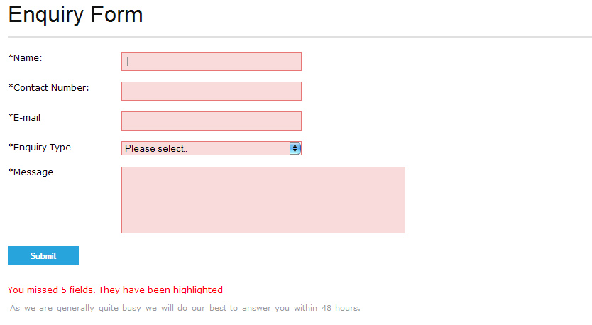 Submitting My Form Using Jquery Validation And Php