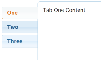 How do I style jQuery UI tabs vertically with a correctly