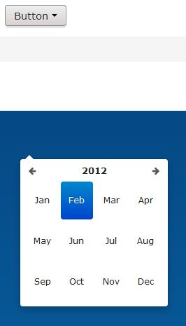 Bootstrap datepicker in bootstrap button drop down - jQuery event