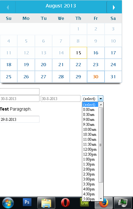 jquery datepicker dynamically and time disable - jQuery Forum