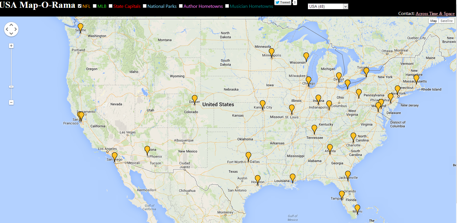 JQuery Global Map Plugins SitePoint Custom JQuery Map - Google map of the us