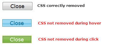 Trying to remove styles from buttons on a dialog - jQuery Forum