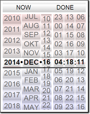 Presentation of plug in: Date-time picker for mobile interfaces