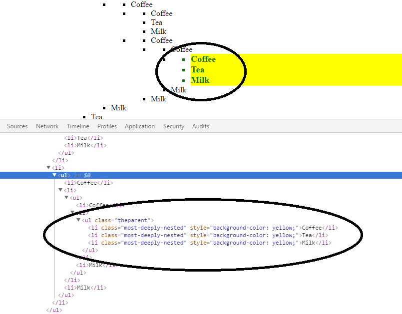 Adding some css to inner most <ul> - jQuery Forum